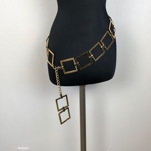 St. John  Square Link Gold Chain Belt